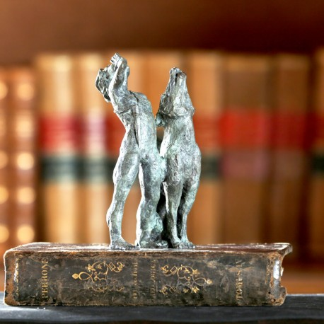 Mowgli y Akela bronce
