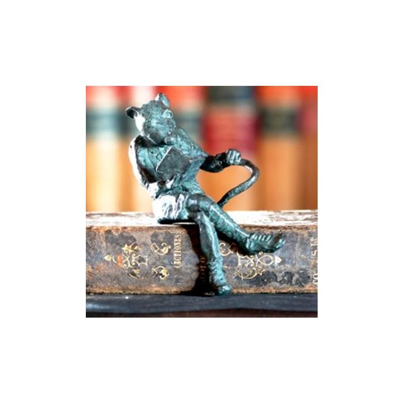 Firmin en bronce. Sujetalibros. Morla Esculturas