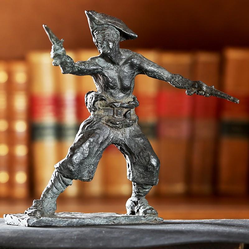 Escultura en bronce de la isla del tesoro. Morla Esculturas